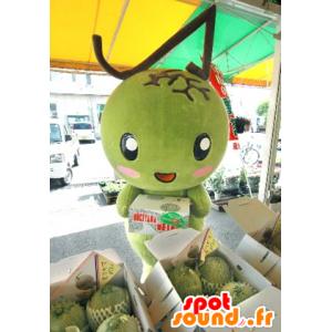 Riesige grüne Mango Maskottchen - MASFR20520 - Obst-Maskottchen