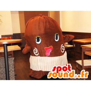 Giant cocoa bean mascot - MASFR20541 - Fast food mascots
