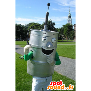 Metallic gray beer keg - MASFR20543 - Mascots bottles