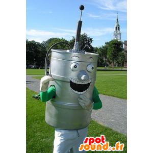 Var metallic grå øl - MASFR20543 - Maskoter Flasker