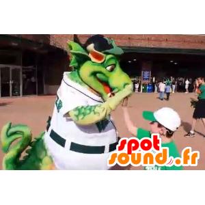 Mascotte de gros dragon vert - MASFR20576 - Mascotte de dragon