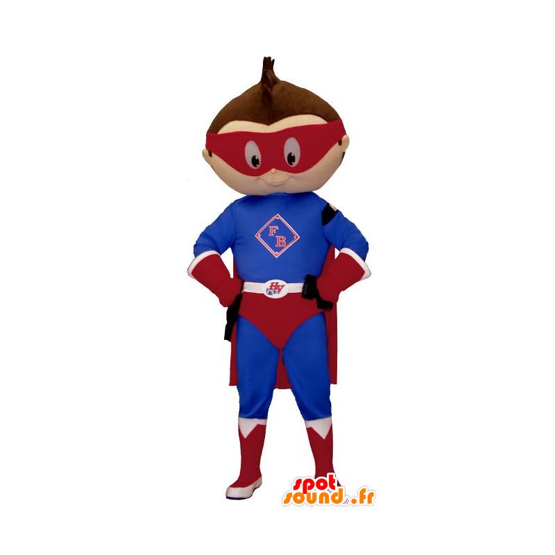 Mascotte de petit garçon habillé en tenue de super-héros - MASFR20614 - Mascotte de super-héros