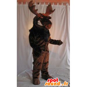 Mascotte d'élan, de caribou marron