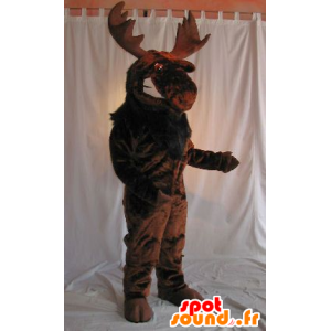 Moose mascot, brown caribou