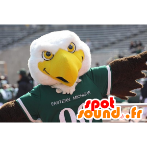 Great white eagle mascot, yellow and brown - MASFR20622 - Mascot of birds