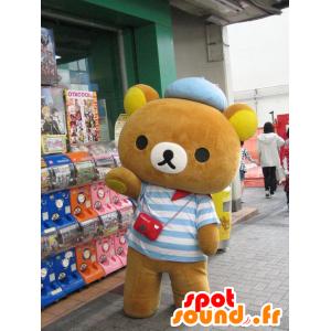 Maskotti pieni karhu pukeutunut merimies - MASFR20623 - Bear Mascot