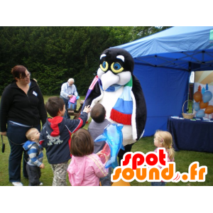 Mascot zwart-witte pinguïn, pinguïn
