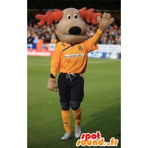 Dog Mascot, ruskea poro - MASFR20628 - koira Maskotteja