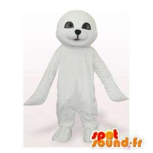 Mascot white seal. Costume seal - MASFR006421 - Mascots seal