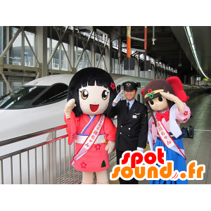 2 mascots Japanese girls, manga - MASFR20644 - Mascots child