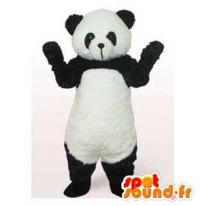 Sort og hvid panda maskot. Panda kostume - Spotsound maskot