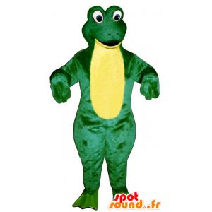 Mascot connive grønn og gul