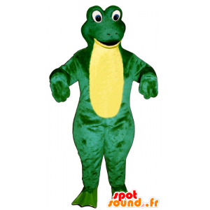 Mascot oogluikend groen en geel