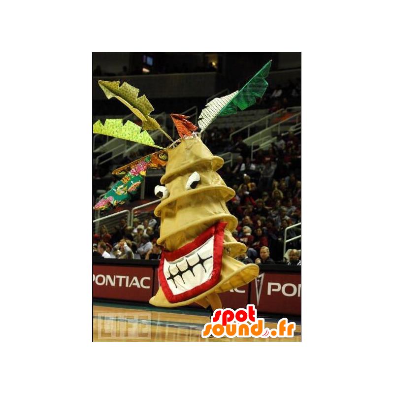 Mascotte riesigen gelben Tanne, Whirlpool - MASFR20665 - Weihnachten-Maskottchen