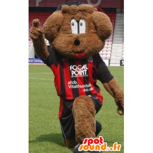 Brown dog mascot in sportswear - MASFR20671 - Dog mascots