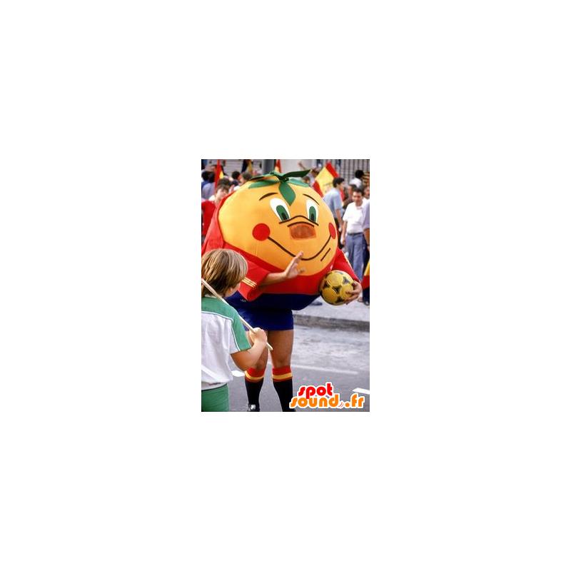Oransje maskot giganten mandarin i sportsklær - MASFR20681 - sport maskot