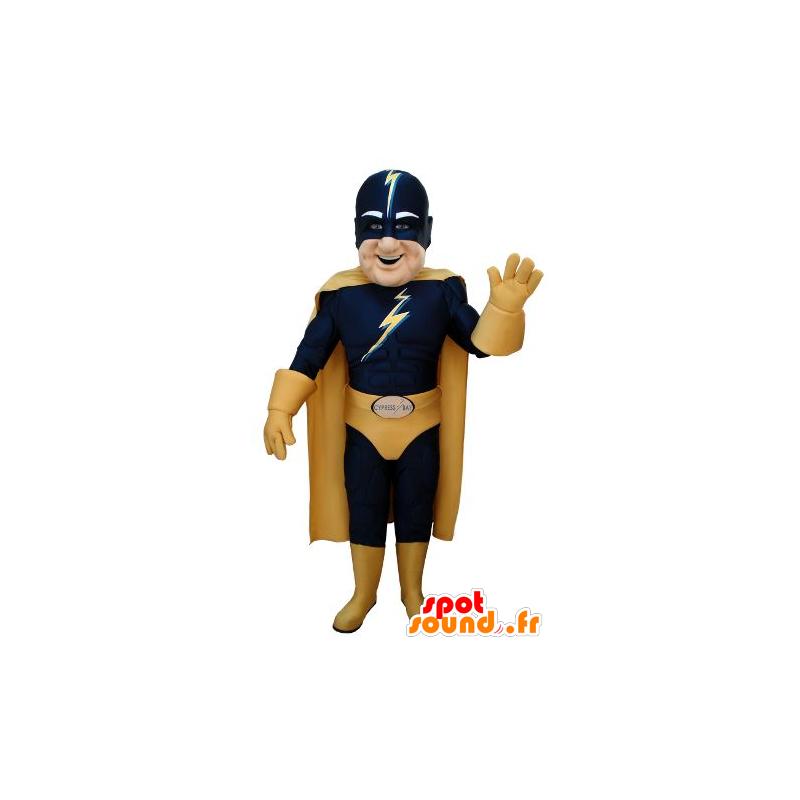 Superhero mascot in blue and yellow dress - MASFR20691 - Superhero mascot
