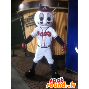 Mascote de beisebol no sportswear