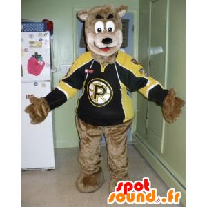 Hnědého medvěda maskota v sportswear - MASFR20699 - Bear Mascot