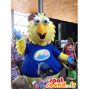 Mascot lintu, keltainen kananpoika, jättiläinen - MASFR20703 - maskotti lintuja