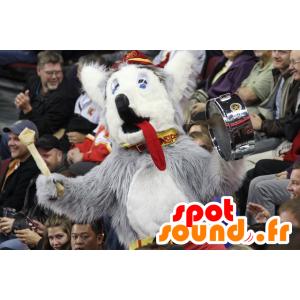 Mascot Hund, Wolf, grau und weiß - MASFR20713 - Maskottchen-Wolf