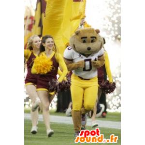 Mascota del oso de Brown en ropa deportiva - MASFR20718 - Oso mascota