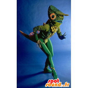 Grünes Chamäleon Maskottchen, sehr originell
