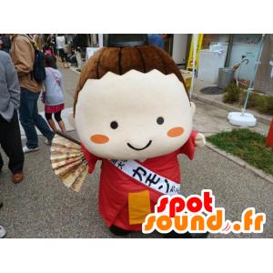 Mascot chica japonesa, de la mujer asiática