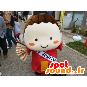 Mascot Japanese girl, of Asian woman