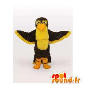 Maskotti ruskea ja keltainen kotka. Bird Costume - MASFR006427 - maskotti lintuja