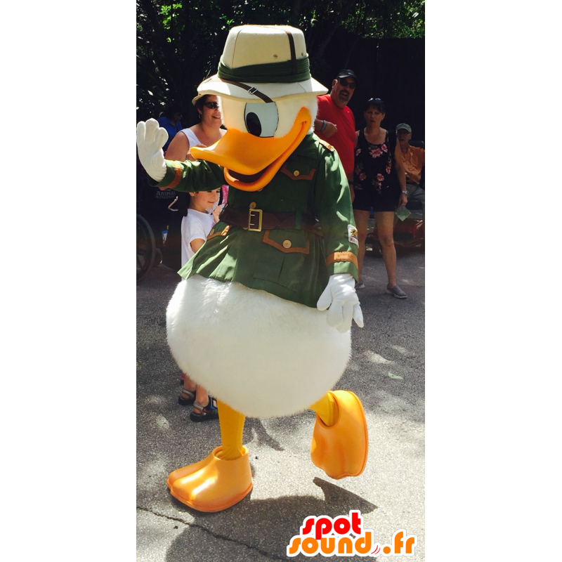 Donald Duck mascot dressed in explorer - MASFR20732 - Mascottes Donald Duck