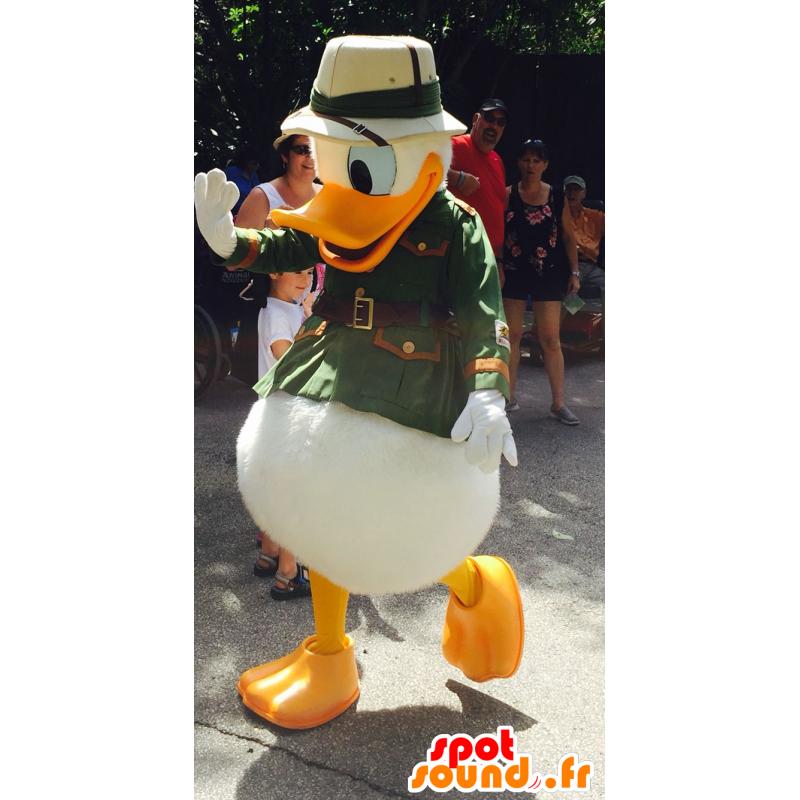 Mascotte de Donald Duck, habillé en explorateur - MASFR20732 - Mascottes Donald Duck