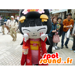 Mascot Chinese girl, of Asian woman