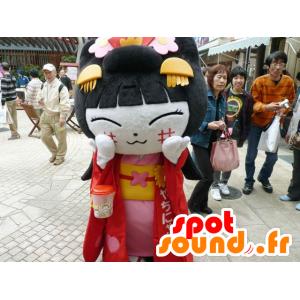 Mascot niña china, de la mujer asiática