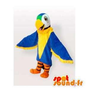 Maskotti harmaa ja valkoinen kotka. Eagle Costume - MASFR006428 - maskotti lintuja