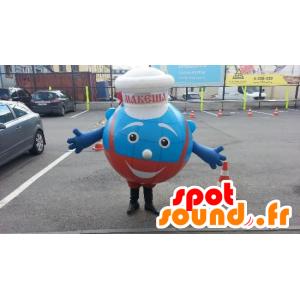 Mascot blue man, chef-kok - MASFR20748 - Niet-ingedeelde Mascottes