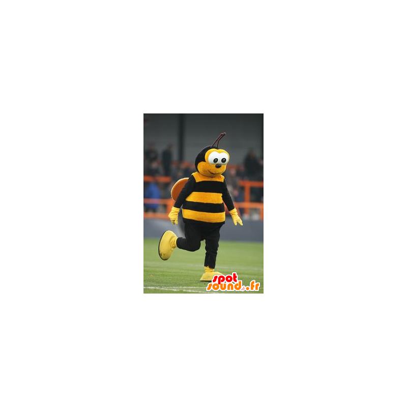 Yellow and black bee mascot - MASFR20766 - Mascots bee