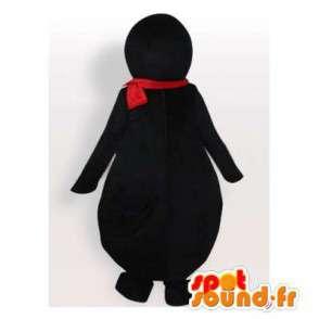 Mascotte de pingouin avec une écharpe et des lunettes - MASFR006429 - Mascottes Pingouin