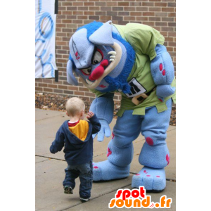 Mascotte ogre, blue and pink monster - MASFR20774 - Monsters mascots