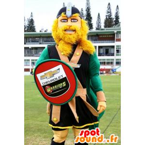 Mascot blond Viking, mit einem Schild - MASFR20808 - Maskottchen der Soldaten