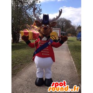 Mascotte de renne, de caribou en costume de cirque
