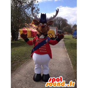 Reindeer mascot, circus costume caribou