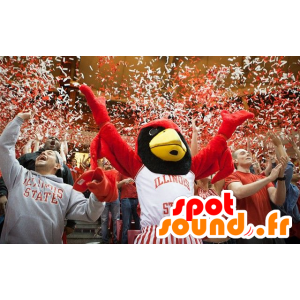 Mascot red and black eagle, giant - MASFR20818 - Mascot of birds