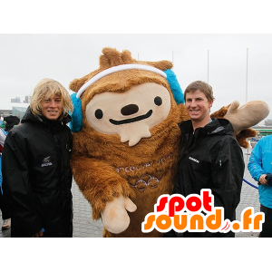 Brown Yeti mascot, Quatchi, Vancouver mascot