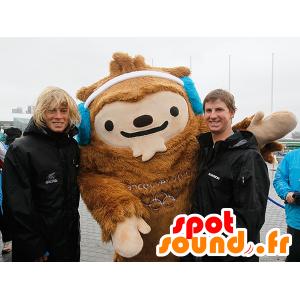 Mascotte de yéti marron, de Quatchi, mascotte de Vancouver