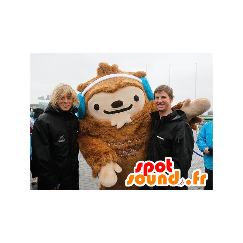 Mascotte de yéti marron, de Quatchi, mascotte de Vancouver - MASFR20826 - Mascottes animaux disparus