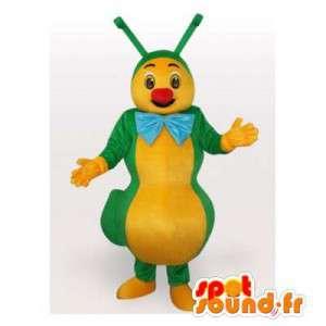 Grön och gul larv för maskot. Caterpillar kostym - Spotsound