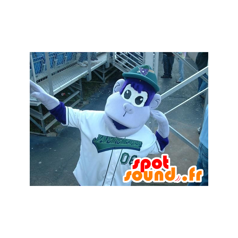 Blue and white monkey mascot - MASFR20838 - Mascots monkey