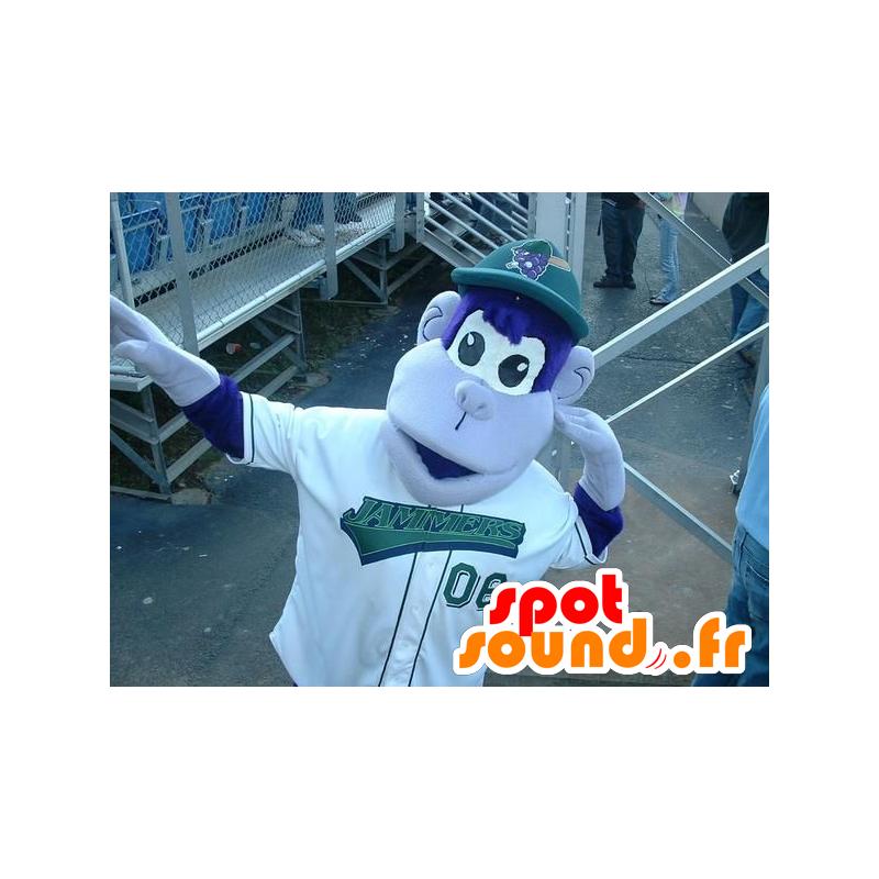 Mascotte de singe bleu et blanc - MASFR20838 - Mascottes Singe