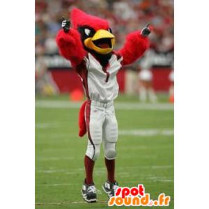Mascot ptaków czerwony, czarny i żółty - MASFR20841 - ptaki Mascot